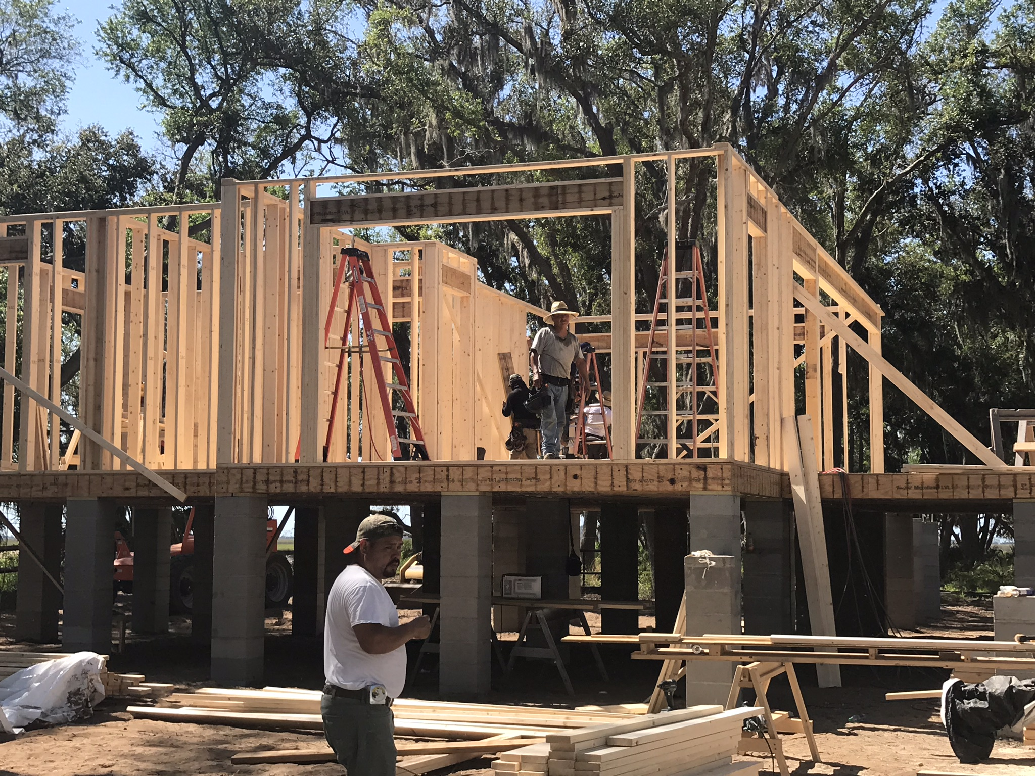 custom home framing phase